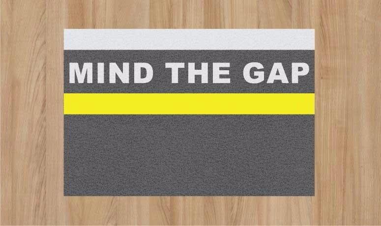 capacho metro mind the gap 60 x 40 r 95 80 em mercado livre