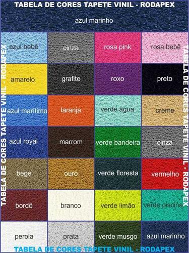 capachos vinil sem logo diversas cores - 1,20m x 2,40m