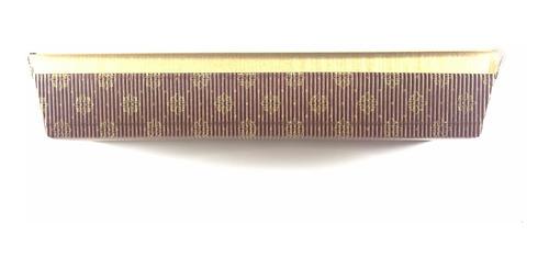 capacillo panettone rectangular 28cm largo 5cm alto. unidad