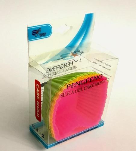 capacillos moldes cuadrados de silica gel 6/u colores neon