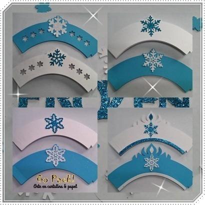 capacillos personalizados, banderines, apliques, mini topper