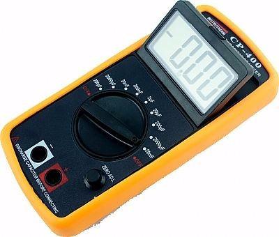 capacímetro digital p/ todos capacitores escala 200pf a 20mf