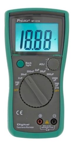capacímetro tester digital lcd 0.1pf-20000µf proskit mt-5110