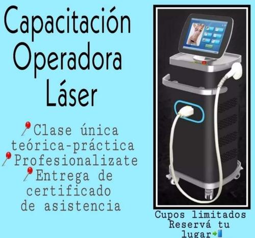 capacitacion operadora depilacion laser