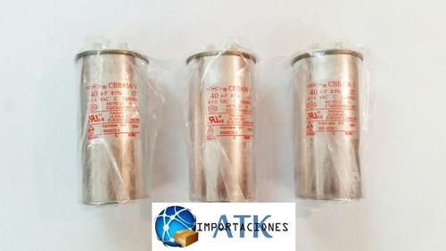 capacitador aire acondicionado de 40 mfd en aceite