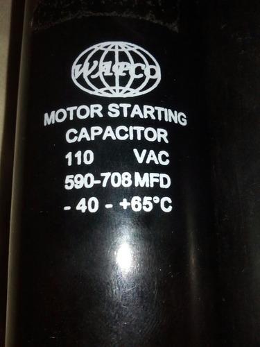 capacitador marcha arranque motor 110v 590/708 uf