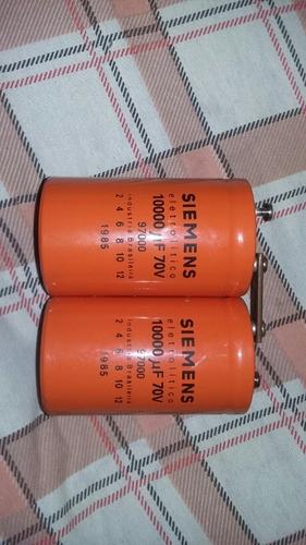 capacitor 10.000/70v ac da siemens p/ amplificador 2 por 70