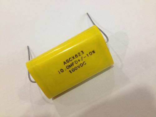 capacitor 10.0mfd 100vdc macfita pacote c/05peças