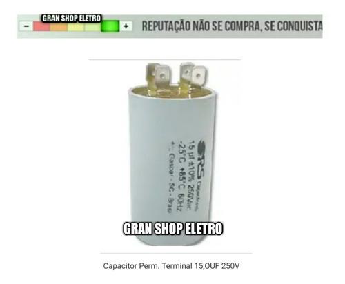 capacitor 15 uf  380 vac bobina com saida de terminais novo