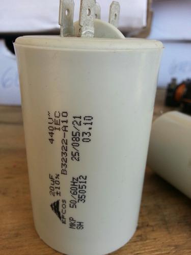 capacitor 20 uf -+10% 440vac