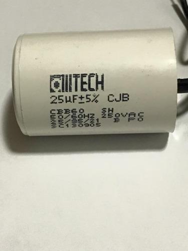 capacitor 25uf 250v 2fios motor permanente