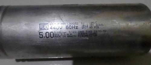 capacitor 440v 60 hz weg 5,00 kvear