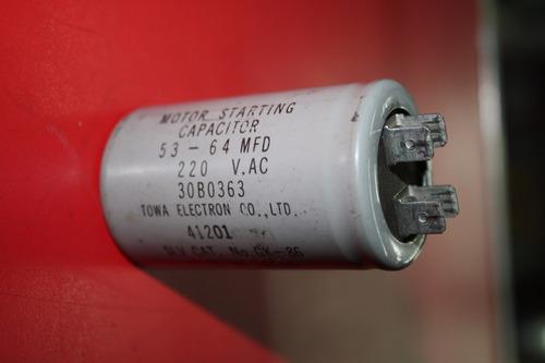 capacitor 53 - 64mfd 220 v.ac 30b0363 slv cat no.gk-86