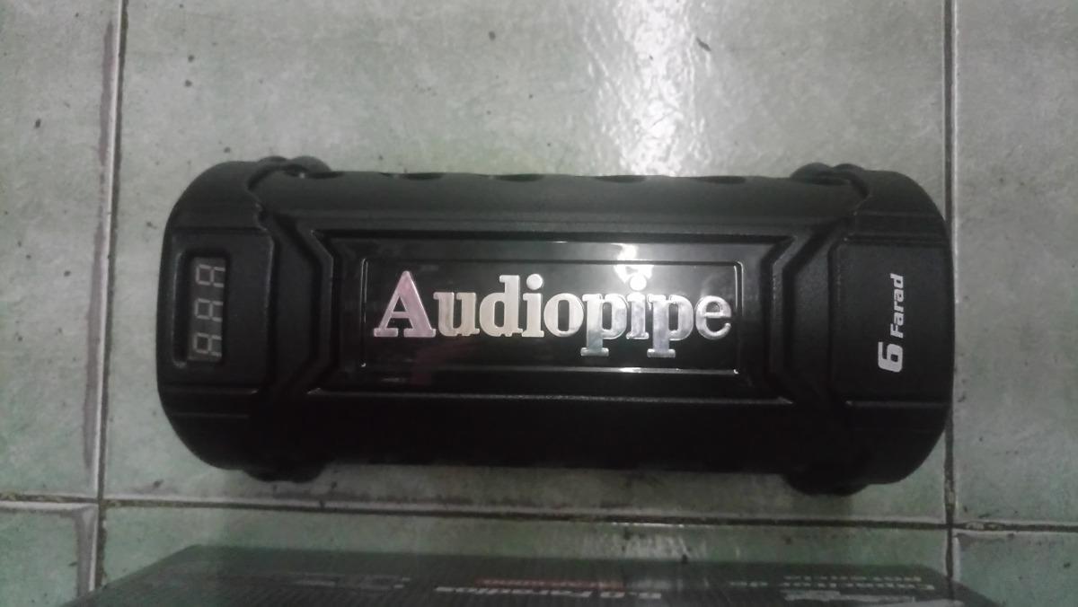 Capacitor 6 Farad Audio Pipe Con Display De Voltaje Azul