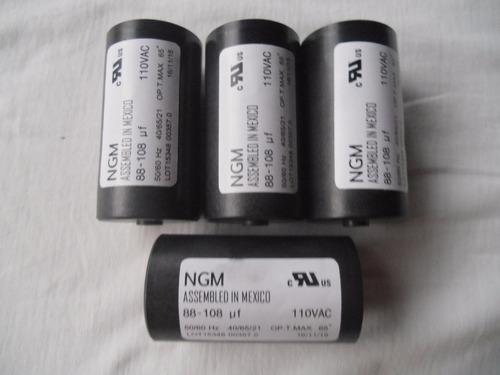 capacitor - capacitador arranque 88 108 mf  110 v