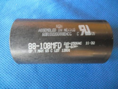 capacitor - capacitador arranque 88-108 mf  220v