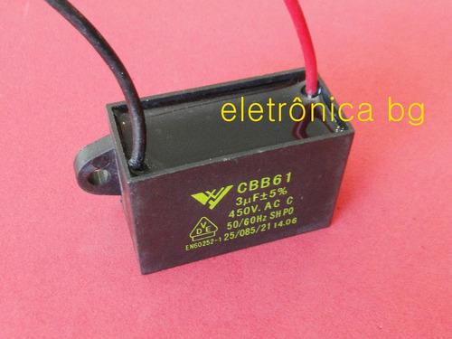 capacitor cbb61 3uf 450vac