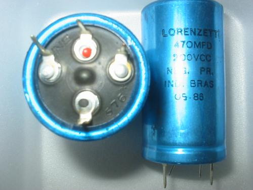 capacitor condensador eletrolitico 470x200v lorenzett