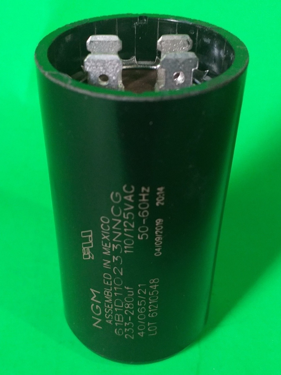 Condensador arranque motor electrico 30.0 uF 450 V con cable Blanco