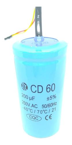 capacitor de arranque para motores cd60 200uf 250v - 450v