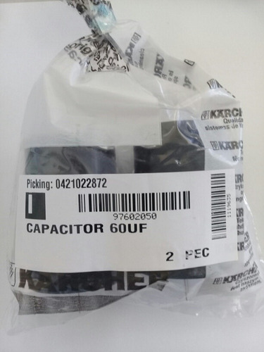 capacitor de partida 60 uf original karcher k-310 330 398