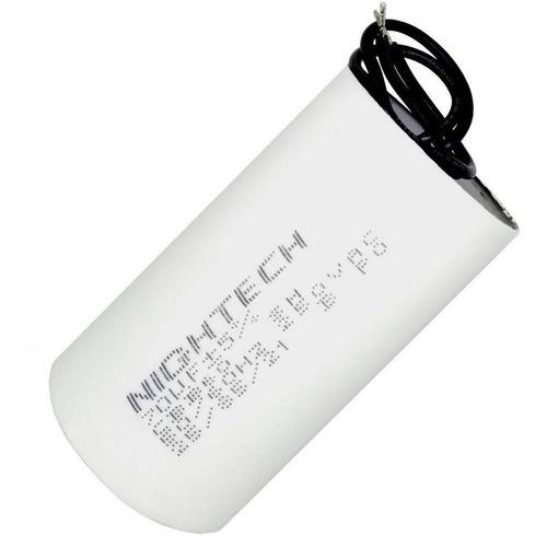 capacitor de partida de 70uf x 250vac fio cbb60 25/85/21