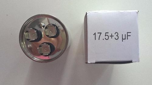 capacitor duplo 17.5 + 3uf ±5% 380vac ar condicionado compr