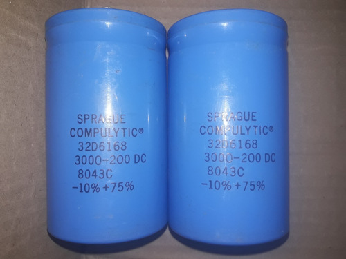 capacitor electrolitico  sprague  3000 uf. 200 dc.
