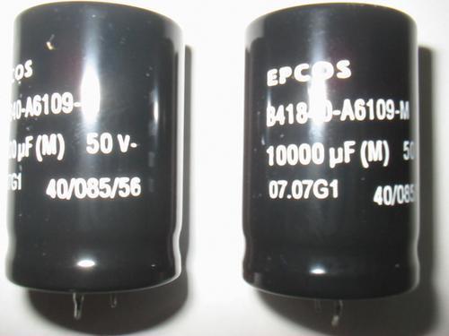 capacitor eletrolítico 10000 x 50 v marca epcos