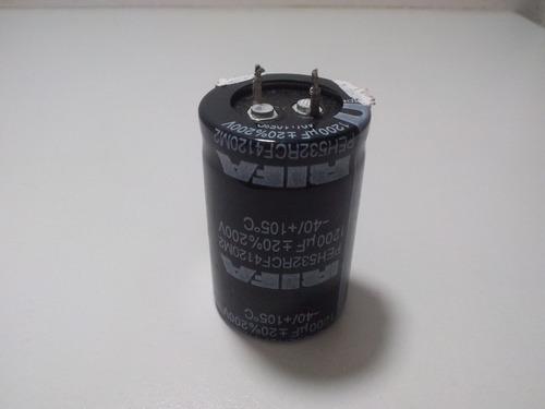capacitor eletrolítico 200v 1200uf 105° (3cm x 4,5cm)