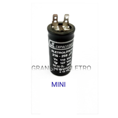 capacitor eletrolitico 216  259 uf  110v