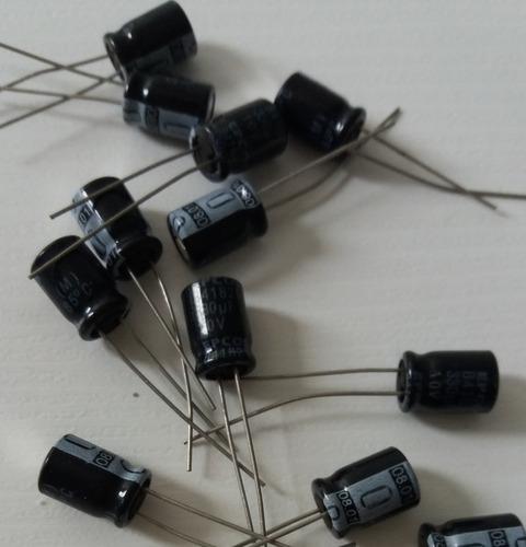 capacitor eletrolítico 330uf x 10v - kit com 100 unidades