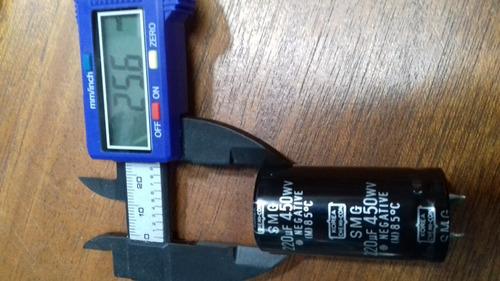 capacitor eletrolitico 85 graus  220x450v * 220 x 450v