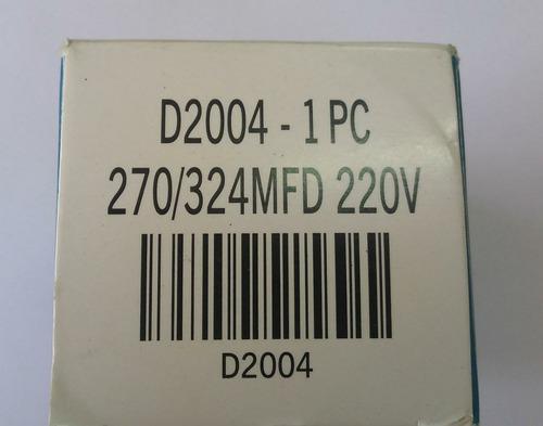 capacitor eletrolítico p/ partida motores 270/324uf 220v