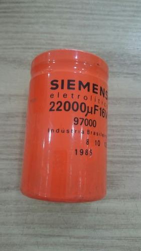 capacitor giga 22000uf x 16v usado - kit c/ 39pçs