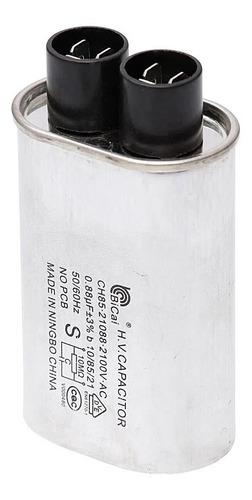 capacitor micro ondas 0,80uf 2100v alta tensão - novo + n.f.