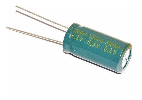 capacitor mother pack x 5 3300uf 6.3v 10*20 mm dip uf 3300