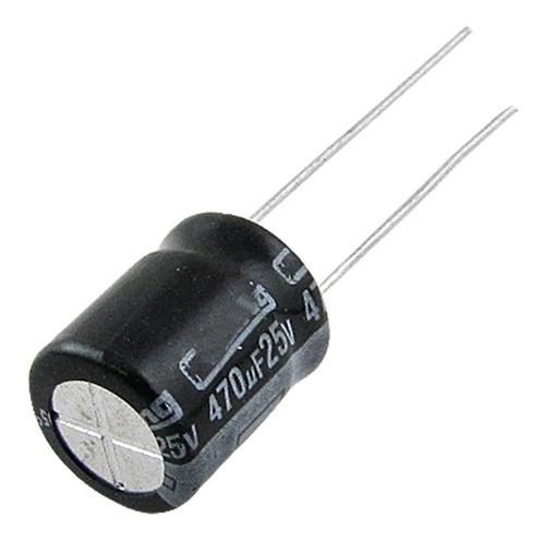 capacitor o condensador 470uf 25v 105ºc ( 10 unidades )