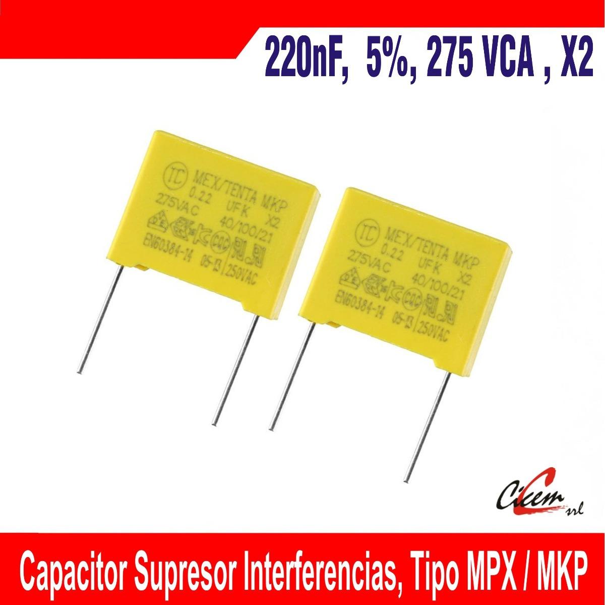 Mex 0.1uf 275vac 250vac Tenta 40//100//21 Mkp X 2 Seguridad Condensador
