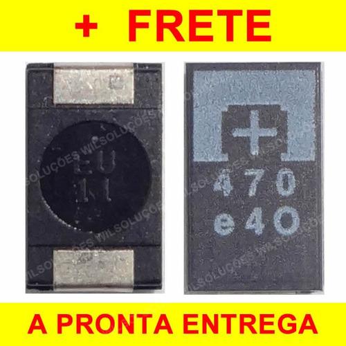 capacitor tântalo 470uf 2.5v - novo - 2.5v - 470uf - ps3