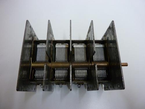 capacitor variable de 4 secciones de 430 pf - made in u s a