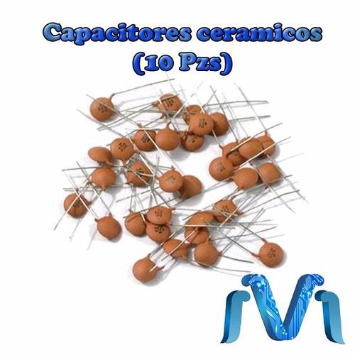 capacitores ceramicos varios valores 10 piezas de capacitor