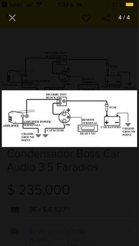 capacitores de audio car marca boss