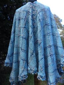 4b49ddab9 Capas Tejidas A Crochet - Accesorios de Moda Celeste en Mercado ...