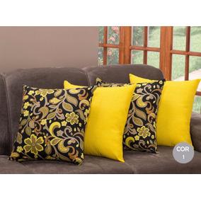 286fe83480e365 Capa De Almofada Floral Amarela - Decoração no Mercado Livre Brasil