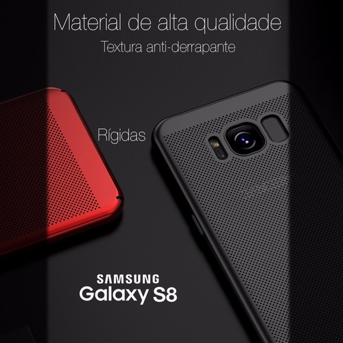 capas alta qualidade galaxy s8 rígidas, com furos