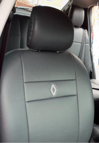 capas automotivas de couro ecologico  courvin  para sandero