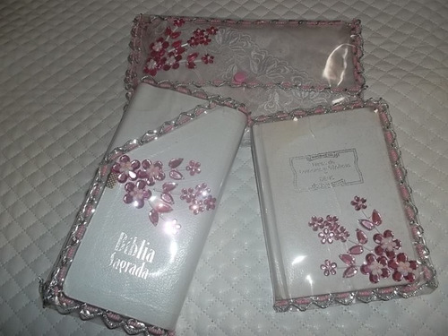 capas bíblia carteira/ hinário e porta véu transparente