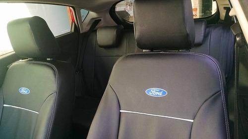 capas de bancos couro sintético para ford ka novo com logoti