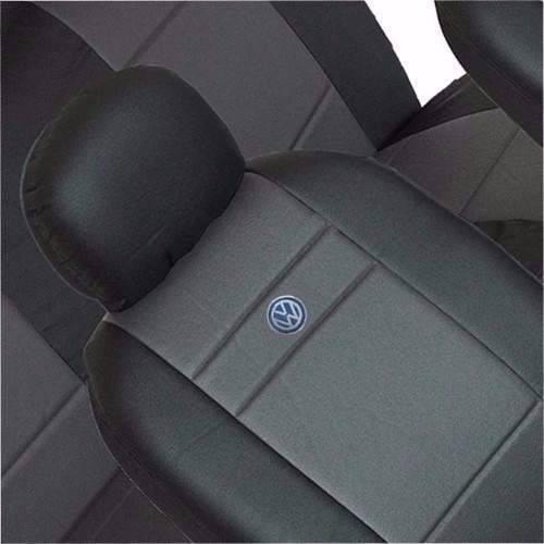capas de couro  automotivos  preta com logo p/ pálio